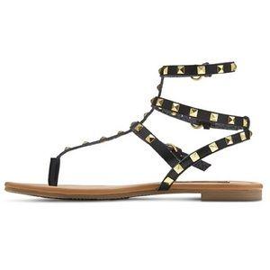 a9c3e95efb4 Betseyville Shoes - Betseyville Pyramid Stud Gladiator Sandals - Black